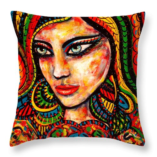 Romance Throw Pillow featuring the painting Princess Of Desire by Natalie Holland