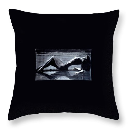 Art Throw Pillow featuring the painting Princess Of The Tides by Jarmo Korhonen aka Jarko