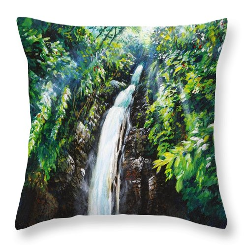Chris Cox Throw Pillow featuring the painting Pristine by Christopher Cox