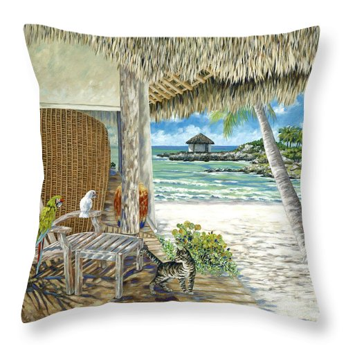 Private Island Throw Pillow featuring the painting Private Island by Danielle Perry