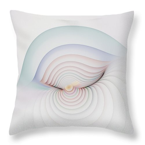 Fractal Throw Pillow featuring the digital art Progression 1 by Richard Ortolano