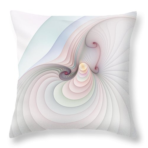 Fractal Throw Pillow featuring the digital art Progression 2 by Richard Ortolano