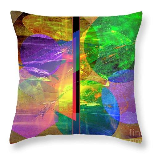 Progressive Intervention Throw Pillow featuring the digital art Progressive Intervention by John Beck