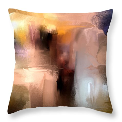 Throw Pillow featuring the painting Projection 2nd Version by Davina Nicholas