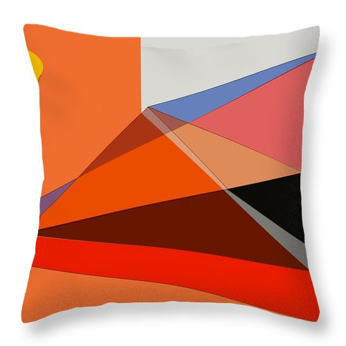 Projection Throw Pillow featuring the digital art Projection by Helmut Rottler