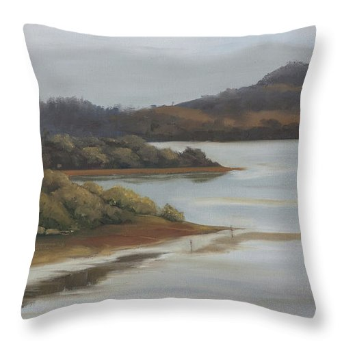 Promise Of A New Day Throw Pillow featuring the painting Promise Of A New Day by Mandar Marathe