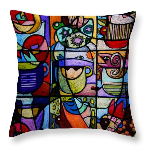 I Ching Throw Pillow featuring the painting Prosperity by Angelina Marino