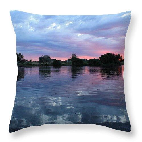 Sunset Throw Pillow featuring the photograph Prosser Pink Sunset 5 by Carol Groenen