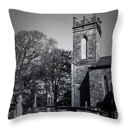 Irish Throw Pillow featuring the photograph Protestant Church Macroom Ireland by Teresa Mucha