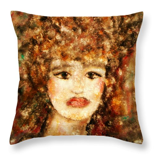 Female Throw Pillow featuring the painting Proud Sarah by Natalie Holland