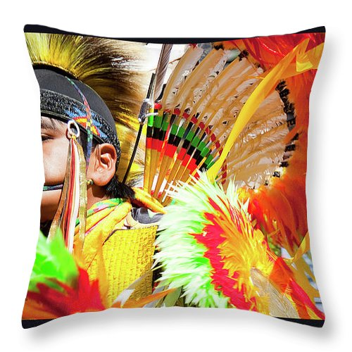 Native American Throw Pillow featuring the photograph Proud To Dance by Theresa Tahara