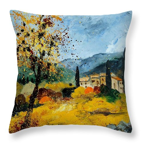 Provence Throw Pillow featuring the painting Provence 45 by Pol Ledent