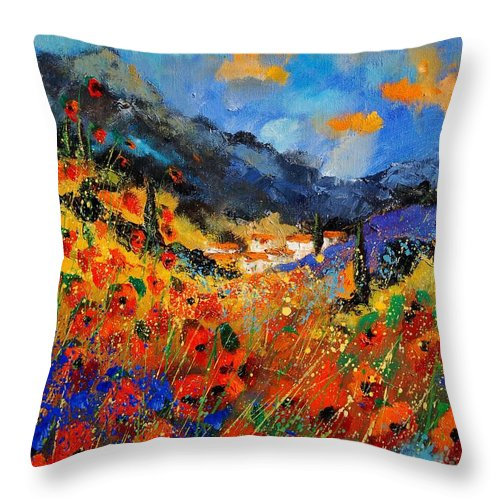 Throw Pillow featuring the painting Provence 459020 by Pol Ledent
