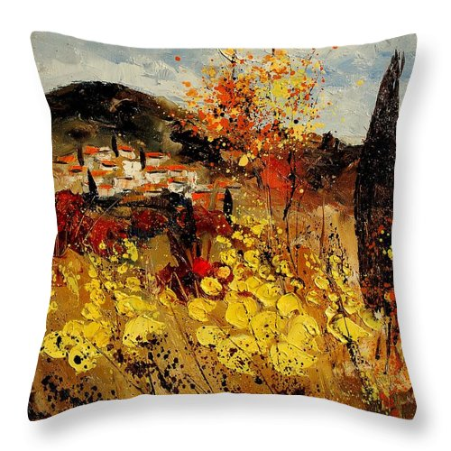 Provence Throw Pillow featuring the painting Provence 459080 by Pol Ledent
