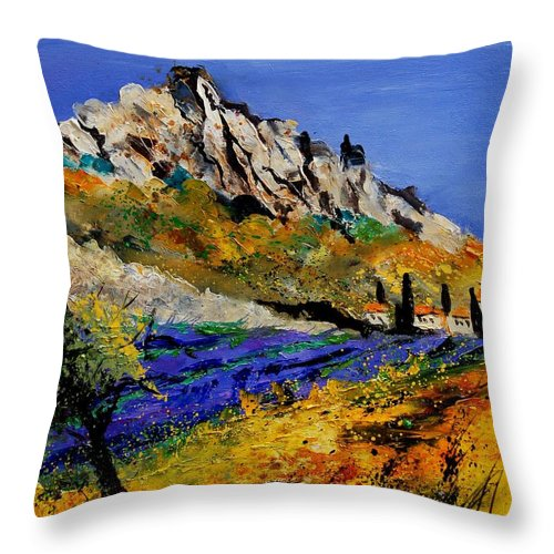 Flowers Throw Pillow featuring the painting Provence 560908 by Pol Ledent
