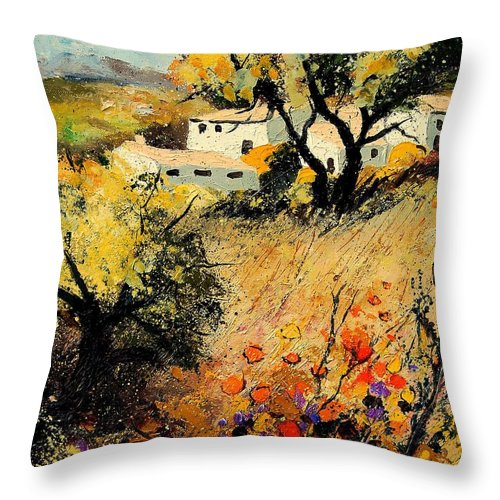 Provence Throw Pillow featuring the painting Provence 56123 by Pol Ledent