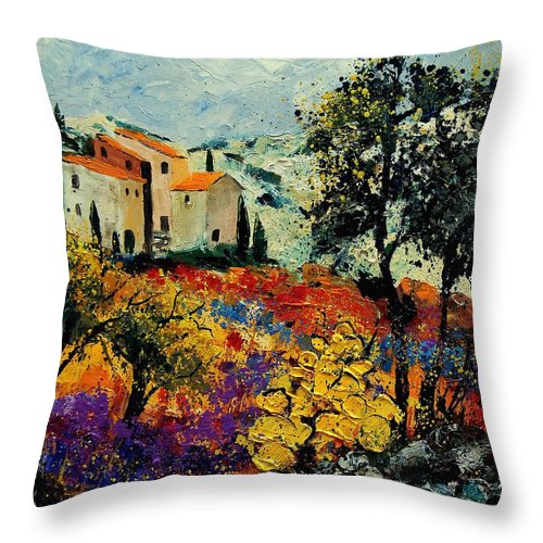 Provence Throw Pillow featuring the painting Provence 56900192 by Pol Ledent