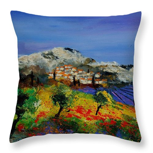 Provence Throw Pillow featuring the painting Provence 569010 by Pol Ledent