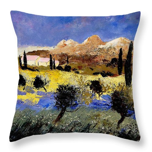Provence Throw Pillow featuring the painting Provence 674525 by Pol Ledent