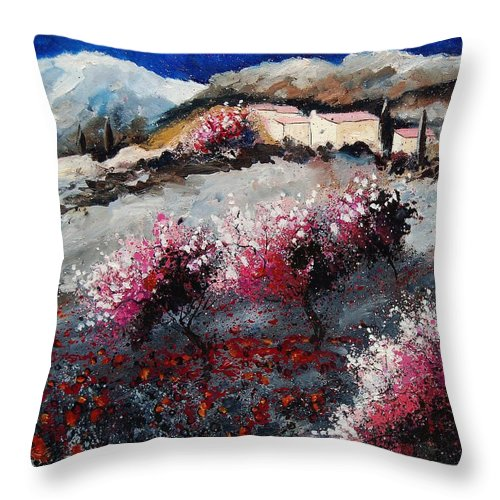 Provence Throw Pillow featuring the painting Provence 675458 by Pol Ledent