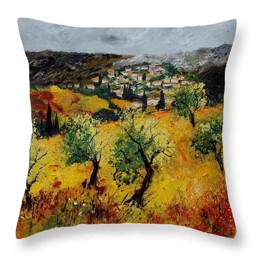 Provence Throw Pillow featuring the painting Provence 789080 by Pol Ledent