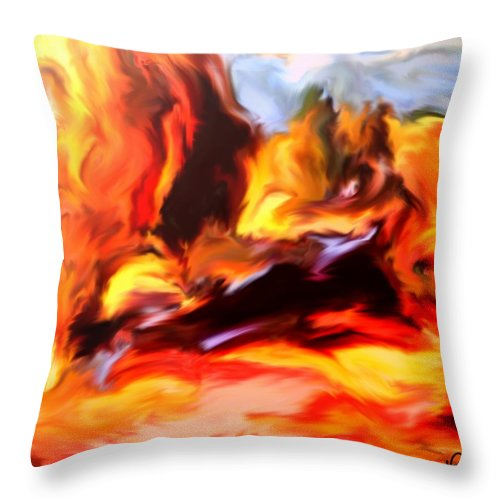 Landscape Throw Pillow featuring the digital art Provence In The Summer by Dragica Micki Fortuna