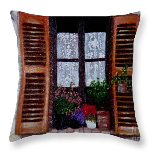 Provence Throw Pillow featuring the painting Provence Morning by Laurie Morgan