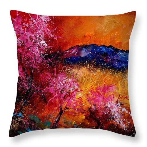 Provence Throw Pillow featuring the painting Provence560908 by Pol Ledent