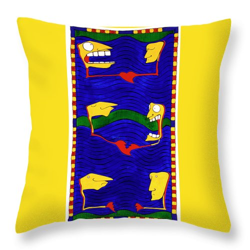 Gallery Throw Pillow featuring the painting Proving Ground by Dar Freeland