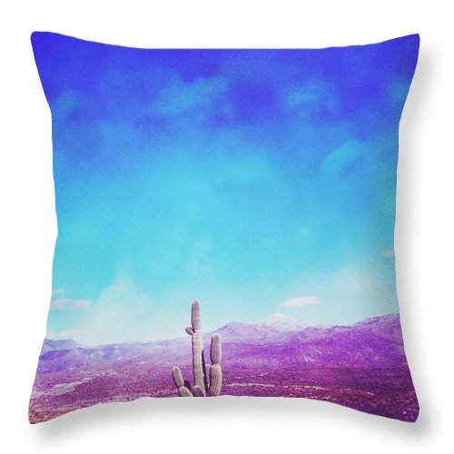 Arizona Throw Pillow featuring the photograph Psychedelic Arizona by Adam Parker