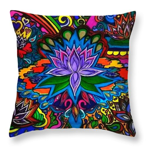 Psychedelic Lotus Flower Throw Pillow For Sale By Rita Entwistle