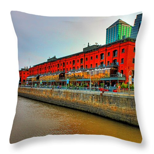 Buenos Throw Pillow featuring the photograph Puerto Madero - Buenos Aires by Francisco Colon