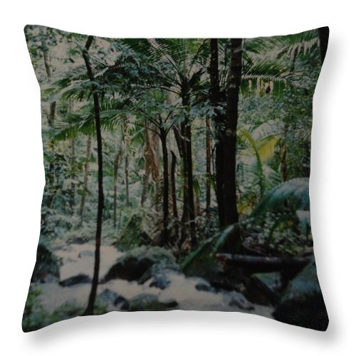 Trees Throw Pillow featuring the photograph Puerto Rico by Rob Hans