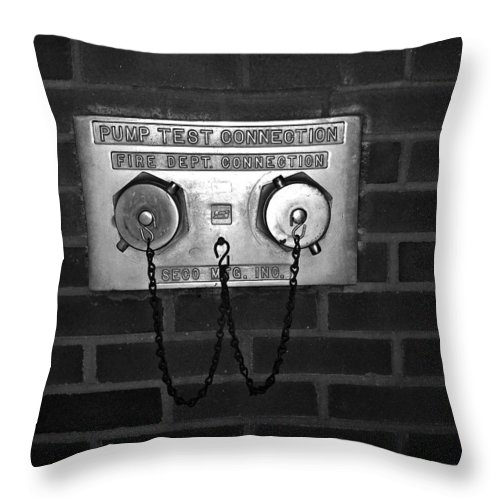 Color Photograph Throw Pillow featuring the photograph Pump Test by Thomas Valentine