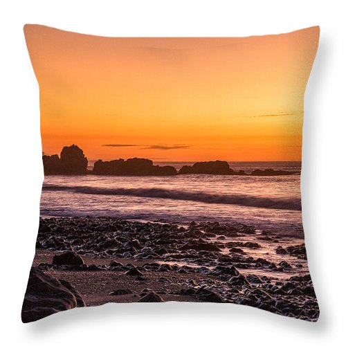 Landscape Throw Pillow featuring the photograph Punakiaki Sunset by Steven Hirsch
