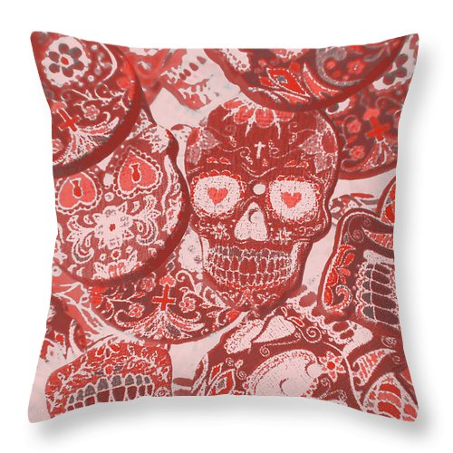 Skulls Throw Pillow featuring the photograph Punks Of Skull Love by Jorgo Photography - Wall Art Gallery