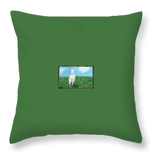 Smoothie Throw Pillow featuring the painting Pure Joy And Happiness by Racquel Morgan