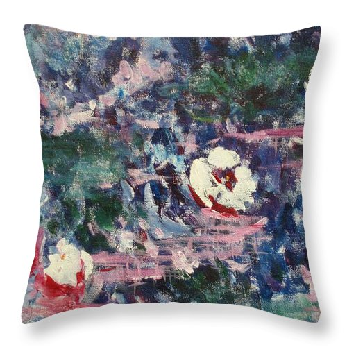 Monet Throw Pillow featuring the painting Pure Joy by Tara Moorman
