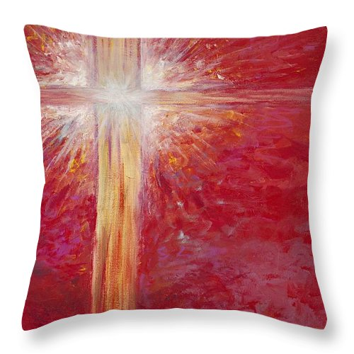 Light Throw Pillow featuring the painting Pure Light by Nadine Rippelmeyer