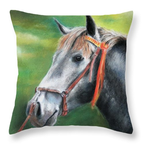 Horse Throw Pillow featuring the painting Pure Spanish by Ceci Watson