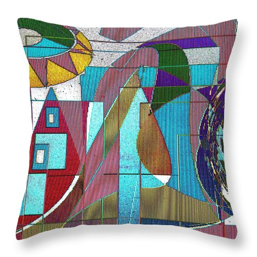Purple Throw Pillow featuring the digital art Purple And Blue by Ian MacDonald
