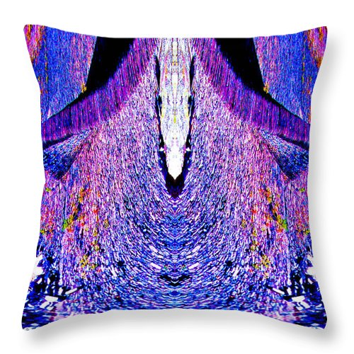 Fine Art Photography Throw Pillow featuring the photograph Purple Blast by Nicholas Costanzo