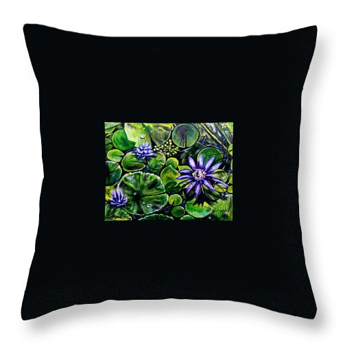 Purple Throw Pillow featuring the painting Purple Dawn by Elizabeth Robinette Tyndall