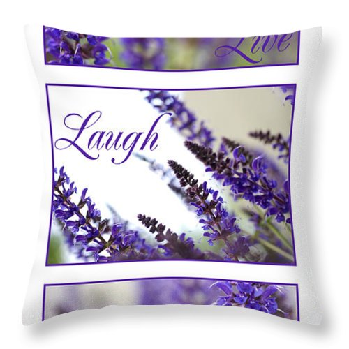 Purple Throw Pillow featuring the photograph Purple Flowers by Jessica Wakefield