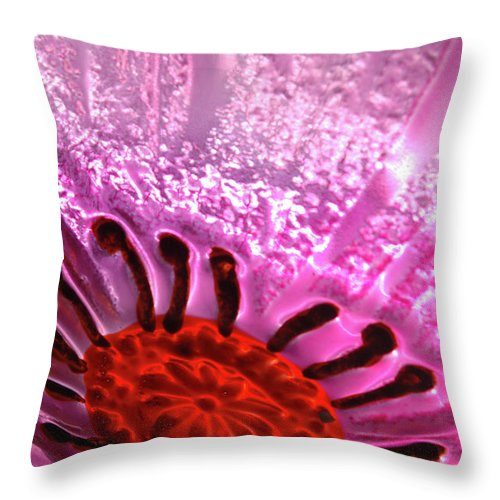 Flower Throw Pillow featuring the photograph Purple Haze by Jerry McElroy