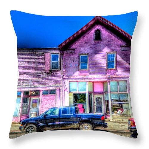 Purple Throw Pillow featuring the photograph Purple House by Jonny D
