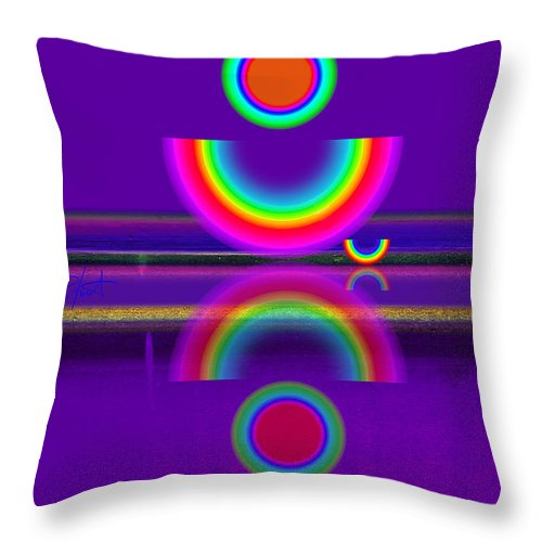 Reflections Throw Pillow featuring the painting Purple Moon by Charles Stuart