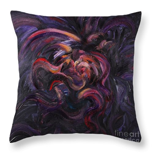 Purple Throw Pillow featuring the painting Purple Passion by Nadine Rippelmeyer