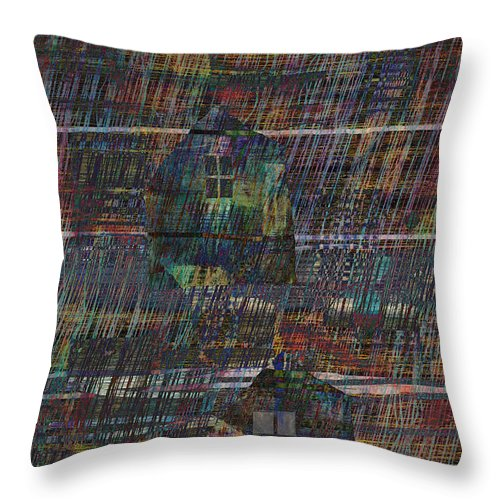 Rain Throw Pillow featuring the digital art Purple Rain by Andy Mercer