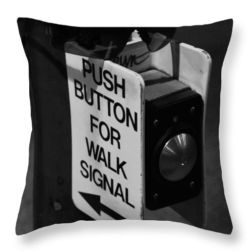 Urban Throw Pillow featuring the photograph Push It by Noah Cole